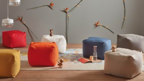 ARCHIMEDE outdoor indoor square pouf-1