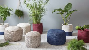 BERENICE indoor outdoor round pouf-4