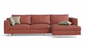 Canapé D'Angle CDI Collection Alison Corner Sofa Leather Red 1