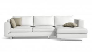 Canapé D'Angle CDI Collection Alison Corner Sofa Leather White
