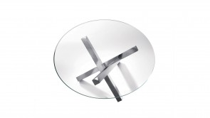 table sovet aikido round table chromed