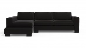 Canapé Modulaire CDI Collection Delta Corner Sofa Leather Black
