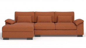 Convertible CDI Collection Dodo Corner Sofa Bed Orange