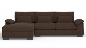 Convertible CDI Collection Dodo Corner Sofa Bed Brown