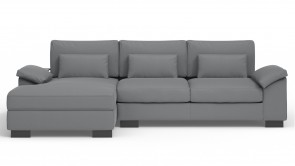 Convertible CDI Collection Dodo Corner Sofa Bed Leather Grey