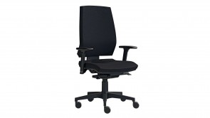 chaise de bureau cdi collection linea black oa360