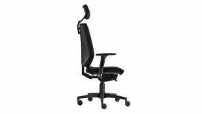 chaise de bureau cdi collection linea black with headrest oa360