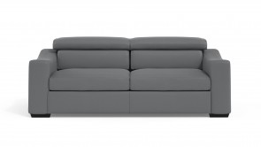 Convertible CDI Collection Living Sofa Bed Leather Grey