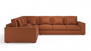 Convertible CDI Collection Long Island Corner Sofa Bed Orange