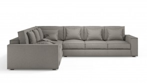 Convertible CDI Collection Long Island Corner Sofa Bed Light Grey