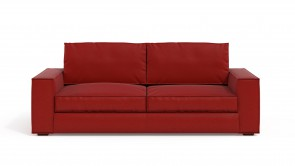 Convertible CDI Collection Long Island Sofa Bed Leather Red
