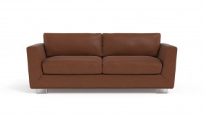 Convertible CDI Collection Romeo Sofa Bed Leather Brown