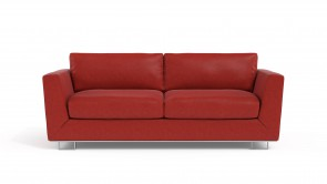 Convertible CDI Collection Romeo Sofa Bed Leather Red