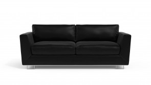 Convertible CDI Collection Romeo Sofa Bed Leather Black