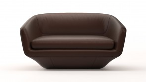 Canapé CDI Collection U Sofa Leather Brown