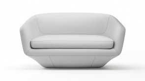Canapé CDI Collection U Sofa Leather White