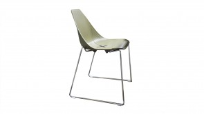 Chaise CDI Collection X Sled Chair Green 1