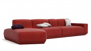 canapé modulaire cdi collection cube corner sofa 3 red