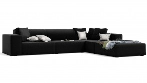 canapé modulaire cdi collection doughy corner sofa black 2