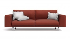 Canapé CDI Collection Empire Sofa Leather Red