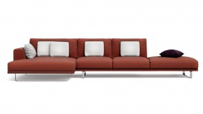Canapé Modulaire CDI Collection Empire Corner Sofa Leather Red