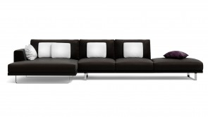 Canapé Modulaire CDI Collection Empire Corner Sofa Leather Brown