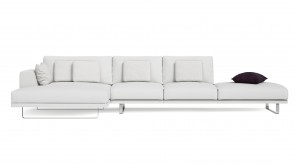 Canapé Modulaire CDI Collection Empire Corner Sofa Leather White