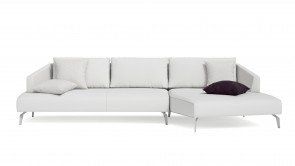Canapé D'Angle CDI Collection Matisse Corner Sofà 2 Leather White