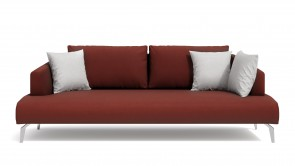 Canapè CDI Collection Matisse Sofa Leather Red
