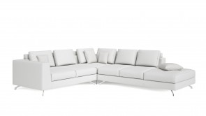 Canapé D'Angle CDI Collection Smith Corner Sofa Leather White