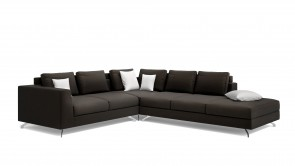Canapé D'Angle CDI Collection Smith Corner Sofa Leather Brown