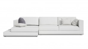 Canapé D'Angle CDI Collection Travel Corner Sofa Leather White