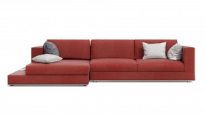 Canapé D'Angle CDI Collection Travel Corner Sofa Red