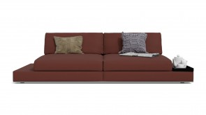 Canapé Modulaire CDI Collection Travel Modular Sofa Leather Brown and Red