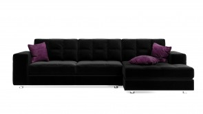 Canapé Modulaire CDI Collection Frame Corner Sofa Leather Black