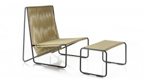 Rada set lounge chair + ottoman hemp