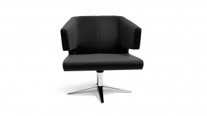 Fauteuil CDI Collection Lotus Armchair Leather Black
