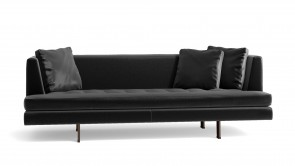 Canapé CDI Collection Edward Sofa Leather Black