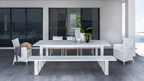 banquette cdi collection essence aluminium dining bench