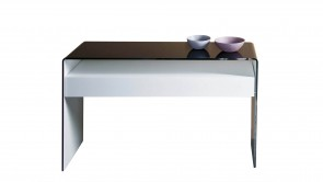 Console Sovet Bridge Hall With Drawer Black and White
