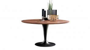 Table Sovet Flute Round Wood