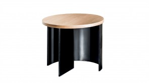 Table Basse Sovet Regolo Round Coffee Table Oak