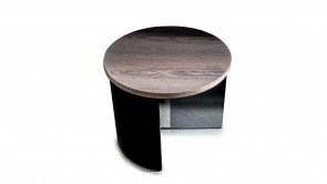 Table Basse Regolo Round Coffee Table Grey Oak 1