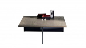 Table Basse Sovet Regolo Square Coffee Table Grey Oak 1