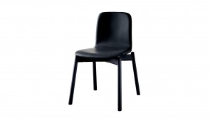 Chaise Sovet Two Tone Chair Black Leather 1