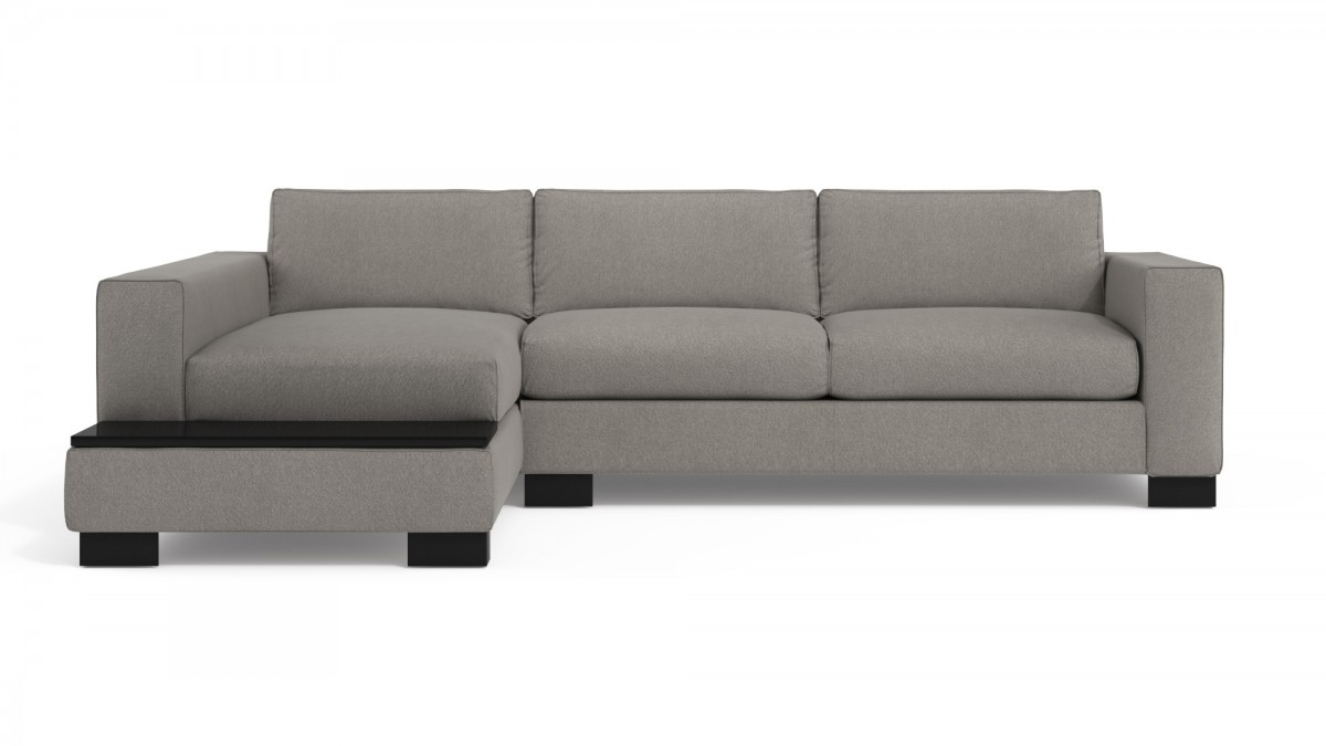 Sofa Bed CDI Collection Delta Corner Sofa Bed Light Grey