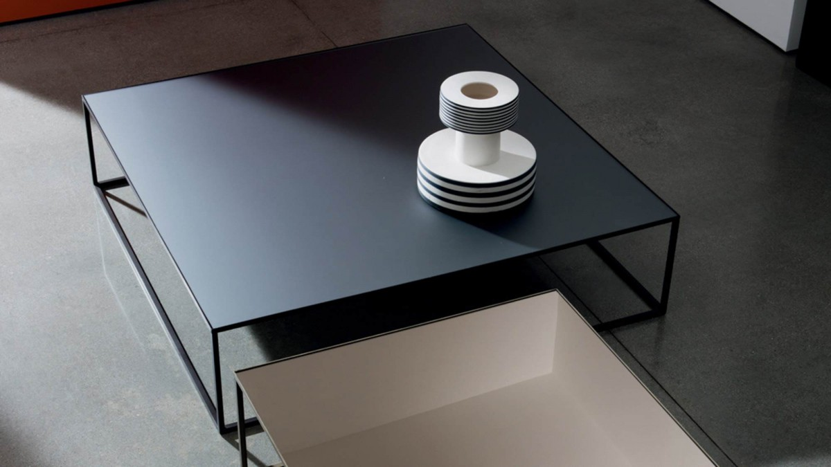 Table Basse Sovet Quadro Coffee Table Smoked