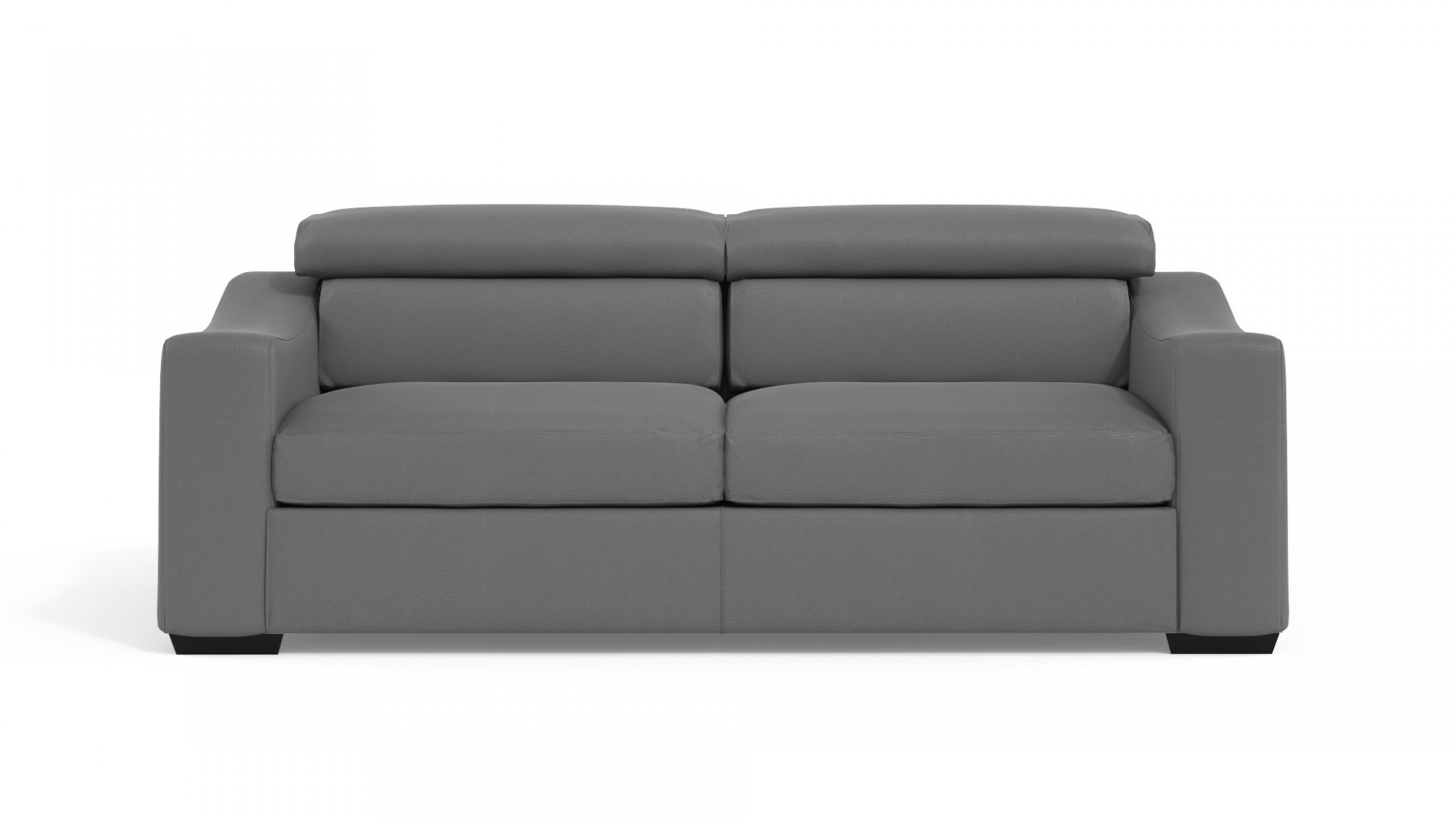 Living Sofa Bed Leather Grey