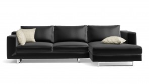 Canapé D'Angle CDI Collection Alison Corner Sofa Leather Black 1