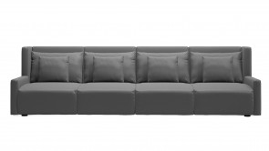 Canapé CDI Collection Club 4 Seater Sofa Leather Grey 1